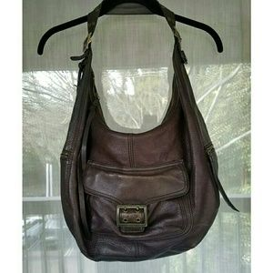 Banana Republic Bags - !! Brown leather hobo purse gold hardware