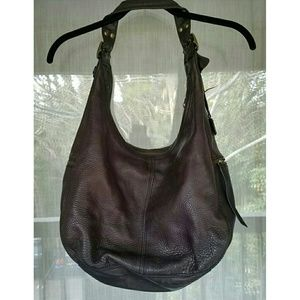 Banana Republic Bags - Brown leather hobo purse gold hardware