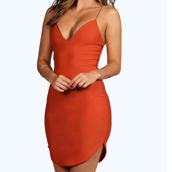 0a0fdc26474e Boohoo Dresses | Christel Curved Hem Strappy Bodycon Dress | Poshmark