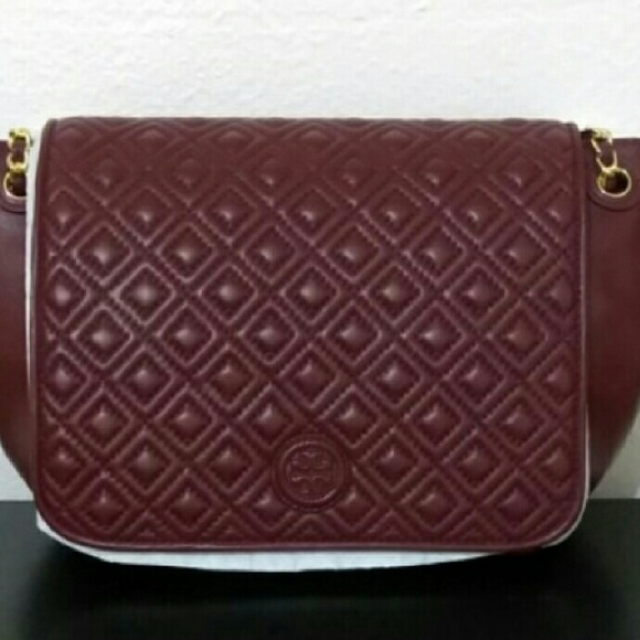 29b4e4efe806 NEW Tory Burch Marion Quilted Flap Shoulder Bag. M 589652172ba50af9ba01be31