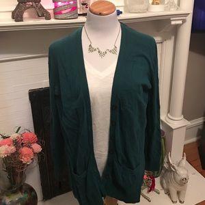 Old navy green cardigan size xl