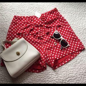 LC Lauren Conrad Pants - • nwt minnie mouse polka dot shorts •