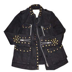 Zadig & Voltaire Jackets & Blazers - Zadig & Voltaire Military Jacket with Gold Studs