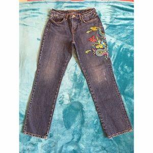 Ralph Lauren Denim - Ralph Lauren 🐉 Dragon 🐉 Embroidered Jeans SZ 6P