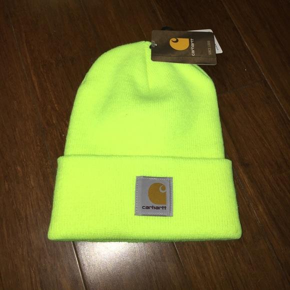 Neon Yellow Carhartt Hat b3a75d62ecd