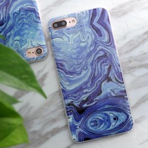 Accessories - SOFT SILICONE MARBLE IPHONE  7 8 PLUS CASE