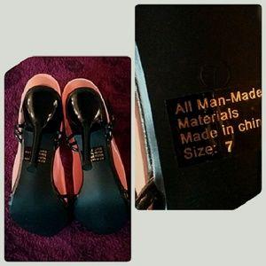 Hot Gossip Shoes - Hot Gossip Dressy Black T-Strap Mirror Sandals 7M