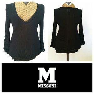 M by Missoni Sweaters - MISSONI black ruffle sweater S M