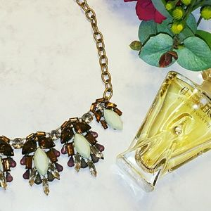 J. Crew Jewelry - {J. Crew} Gold Necklace with Crystals
