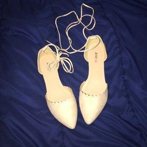JustFab Shoes - Justfab Tomina Lace Up Flats