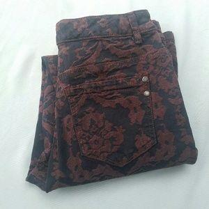 Bandolino Denim - Bandolino Antique Patterned Maroon Jeans