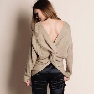 Twist Back Reversible Sweater