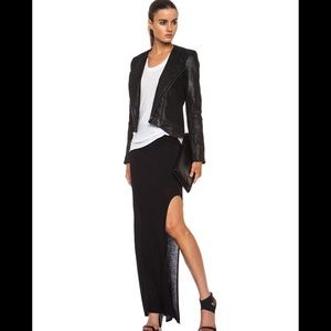 Helmut Lang Dresses & Skirts - Helmut Lang asymmetrical split jersey maxi skirt