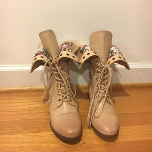 Forever 21 Shoes - Light Brown washed faux leather Combat Boots