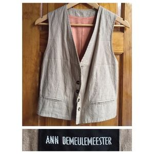 Ann Demeulemeester Jackets & Blazers - Ann Demeulemeester Vest LIKE NEW Size:38
