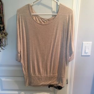 Zenana Outfitters Tops - Zenana outfitters beige blouse dolman sleeves