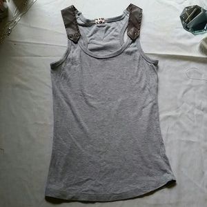 Unbranded Tops - NEW Leather+Rivets Racerback Tank