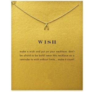 Jewelry - 🍀 Cute Dainty Wish Bone necklace in color GOLD