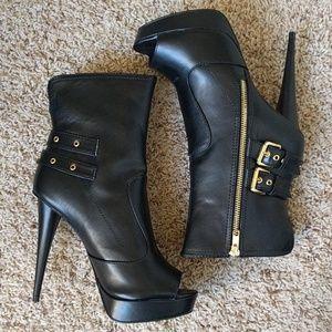 Paper Fox Shoes - Peep-Toe Platform Booties