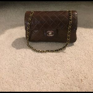 CHANEL Handbags - Chanel classic flap bag in chocolate brown