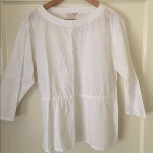 White cotton Gap blouse