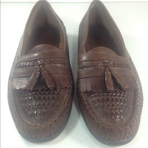 Nunn Bush Other - Nunn Bush Brown Leather Woven Tassel Shoes Size 10