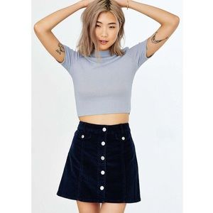 Adorable BDG Navy Corduroy Skirt