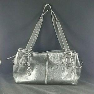 Fossil black leather purse