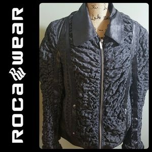 Rocawear Jackets & Blazers - Rocawear Black Leather Trim Jacket