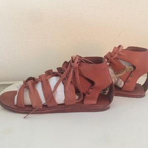 41b476bf7407 DSW Shoes - DSW Cognac Gladiator Sandal