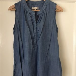 Soft, denim top from Banana Republic