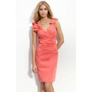 Maggy London Dresses & Skirts - NWT Maggy London Ruffled Stretch Taffeta Dress 12