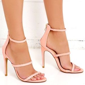 Lulus Shoes - THREE LOVE BLUSH PINK DRESS SANDALS