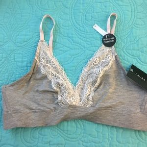 Laura Ashley Other - NWT Laura Ashley gray Heather and lace bralette