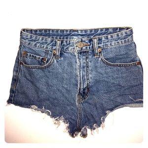Urban outfitters high waisted denim short shorts