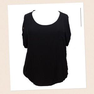 Fashion to Figure Tops - Fashion To Figure - Black Short Sleeve Top