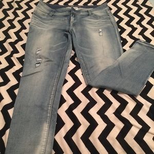 Maurices Denim - Maurices skinny stretchy washed denim jeans Size L