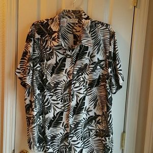 KATHY CHE Tops - KATHY CHE TROPICAL BUTTON FRONT BLOUSE SZ 18