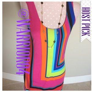 Derek Heart Dresses & Skirts - Derek Heart Rainbow Dress Size Medium