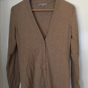 Light brown, long cardigan sweater
