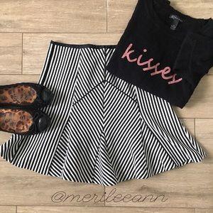 Banana Republic Dresses & Skirts - BR Stripe Skater Skirt