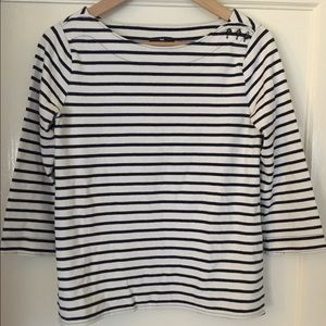 Boatneck, 3/4-sleeve top