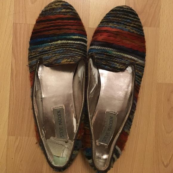 fba80b53508 Steve Madden colorful yarn flats. M 58967ba57fab3a8980025985