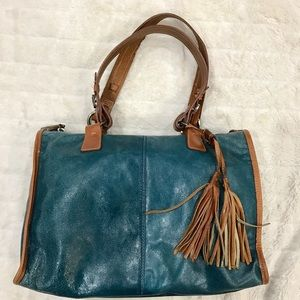 Francesco Biasia Handbags - Francesco Biasia Leather Boho Satchel
