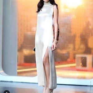 Zara High neck satin dress