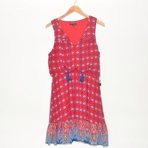 As U Wish Dresses & Skirts - New Macy's As U Wish Red L Junior's Peasant Dress
