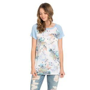The Blossom Apparel Tops - Floral Print Raglan Top