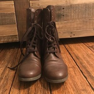 Mossimo Supply Co. Shoes - Modern Brown Combat Boots
