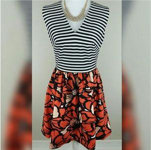 Just Taylor Dresses & Skirts - NWOT JUST TAYLOR stripes and floral dress