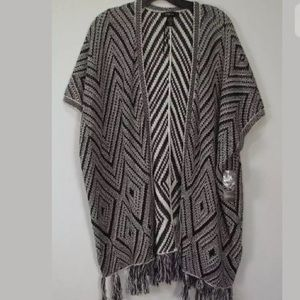 Style & Co Sweaters - Festival Style &Co S/M Poncho/Blanket Cardi